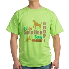 New Be The Solution Green T-Shirt