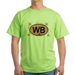 Wrightsville Beach NC - Oval Design Green T-Shirt