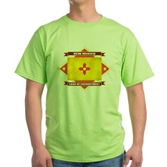 2-New Mexico diamond Green T-Shirt
