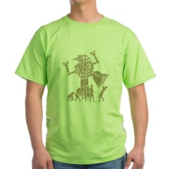 2-robotV2 Green T-Shirt