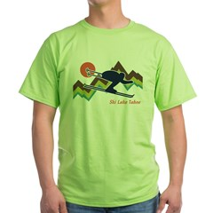 Ski Lake Tahoe Green T-Shirt