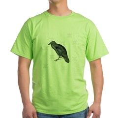 Crow / Raven - Green T-Shirt
