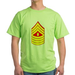 USMC Retired <BR>Master Gunnery Sergeant Green T-Shirt