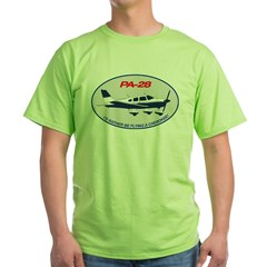 Id Rather be Flying a Cherokee! Green T-Shirt