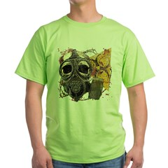 Biohazard Skull in Mask Green T-Shirt