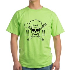 chef-pirate-T Green T-Shirt