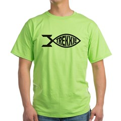Trekkie Fish Green T-Shirt