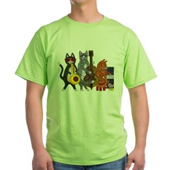 Jazz Cats Green T-Shirt