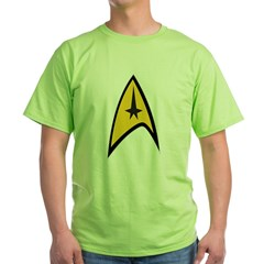 Starfleet Command Green T-Shirt