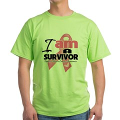 I am a Breast Cancer Survivor Green T-Shirt
