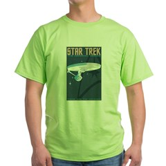 Retro Star Trek: TOS Poster Green T-Shirt