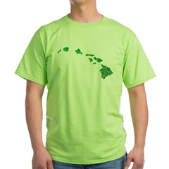 Hawaiian Islands Green T-Shirt
