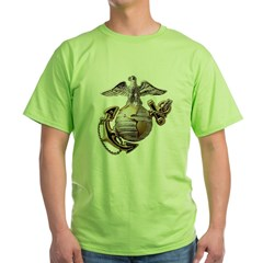 Eagle Globe and Anchor Green T-Shirt