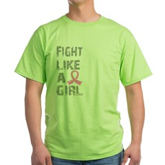 Fight Like A Girl Breast Cancer D 21.8 Green T-Shirt