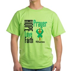 PKD Hope Prayer Cross Green T-Shirt