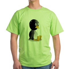 Penquin cartoon sitting Green T-Shirt