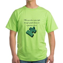 Pure Light, Perfect Diamond Green T-Shirt