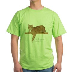 Orange Cat Ginger Kitty Green T-Shirt