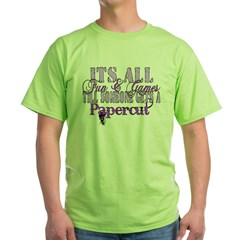 Papercut Green T-Shirt