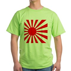 JAPANESE RISING SUN FLA Green T-Shirt