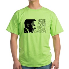 Obama - Hope Over Fear - Grey Green T-Shirt