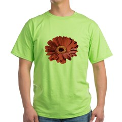 Red gerbera flower Green T-Shirt