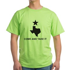 Come and Take It Slogan Green T-Shirt