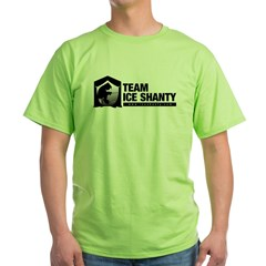 Team Iceshanty Ash Grey Green T-Shirt
