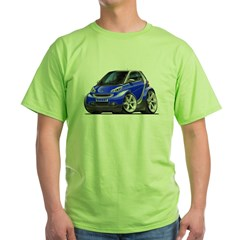 Smart Blue Car Green T-Shirt