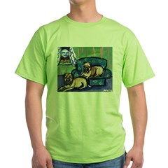 BULL MASTIFF sofa Design Green T-Shirt