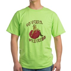 Cowgirl Princess Larger Green T-Shirt