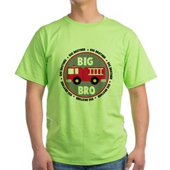 Big Brother Fire Truck Green T-Shirt