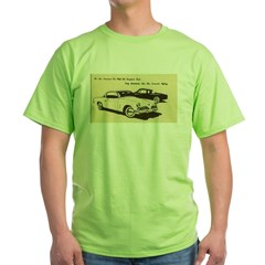 Two '53 Studebakers on Green T-Shirt
