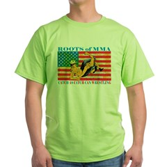 Roots of MMA Green T-Shirt
