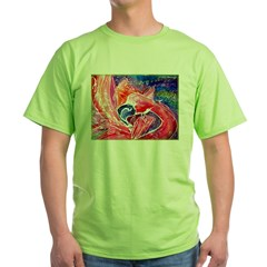 Falmingo, colorful, bird, art, Green T-Shirt