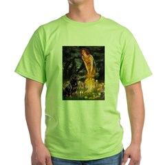 Fairies with Rottie Green T-Shirt
