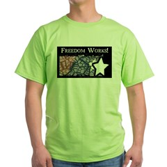 Freedom Works Flag Green T-Shirt