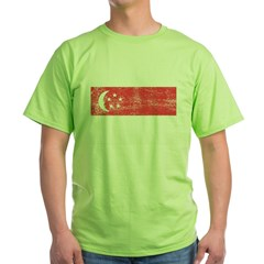 Singapore Flag Green T-Shirt