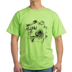 Smokin' Royal Flush Green T-Shirt