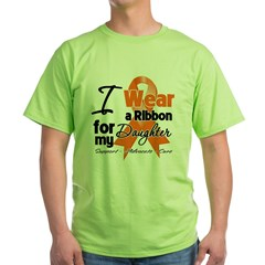 Daughter Orange Ribbon Green T-Shirt