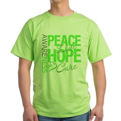 Muscular Dystrophy PeaceLoveHope Green T-Shirt