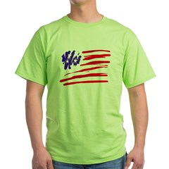 US flag Green T-Shirt