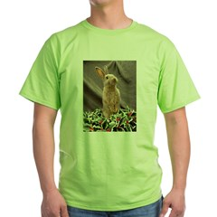 Christmas Bunny Green T-Shirt