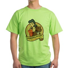 Large Pinup and dog logo NO SHADING Green T-Shirt