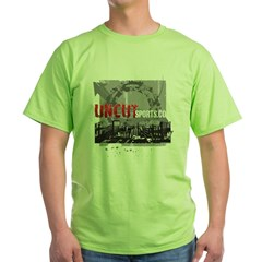 Uncut Sports City (Red Logo) Green T-Shirt