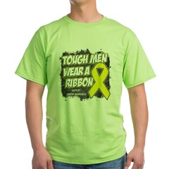 Sarcoma ToughMenWearRibbon Green T-Shirt