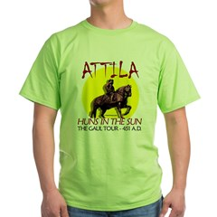 Attila 'Huns in the Sun' tour Ash Grey Green T-Shirt