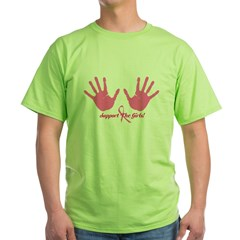 Cancer Support The Girls Green T-Shirt
