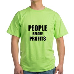 People Before Profits Green T-Shirt