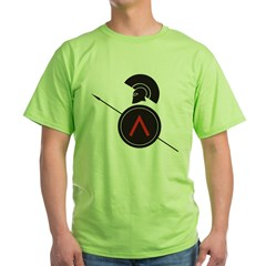Greek Warrior 4 Green T-Shirt